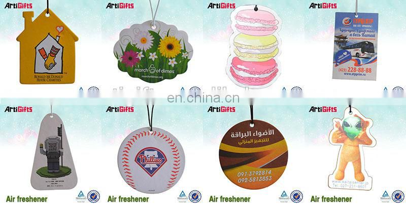 Wholesale absorbent customized car paper air freshener
