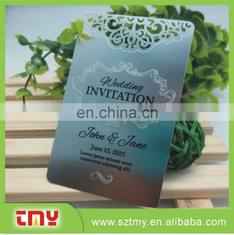 Personalized Invitation Card Metal Stainless Steel Invitation Card