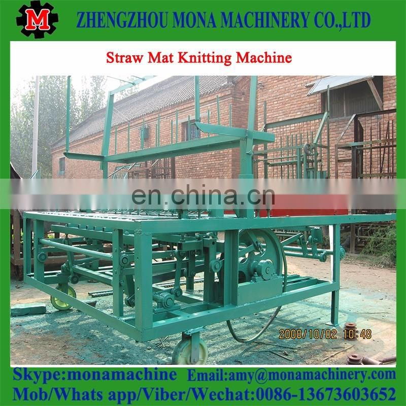 Safe and easy operation straw rope making machine wicker mat knitting machine