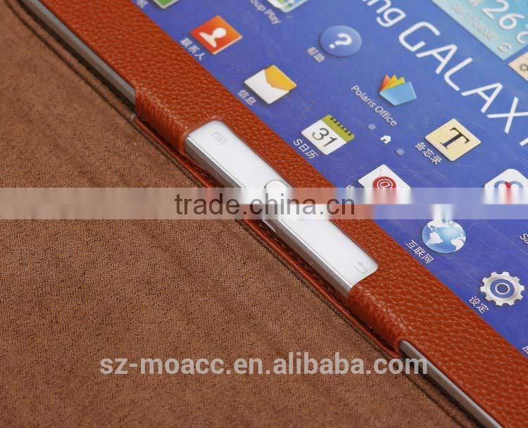 Lichee Pattern tablet leather case for samsung galaxy tab3 10.1