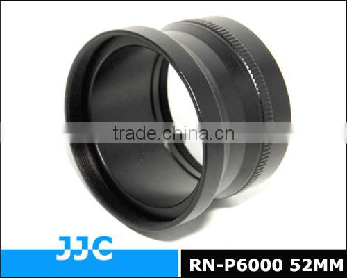 JJC Lens adapter RN-P6000 52mm provides a 52mm filter adapter for for NIKON Coolpix P6000 digital camera