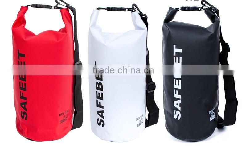 backpack 5L 8L 10L 20L dry tube bag pvc tarpaulin 250D waterproof dry duffel bags