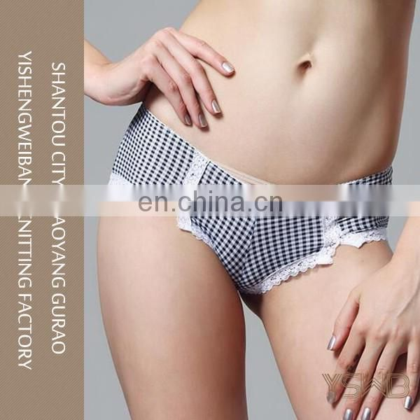 2016 new design comfortable sexy ladies polyester panty teen