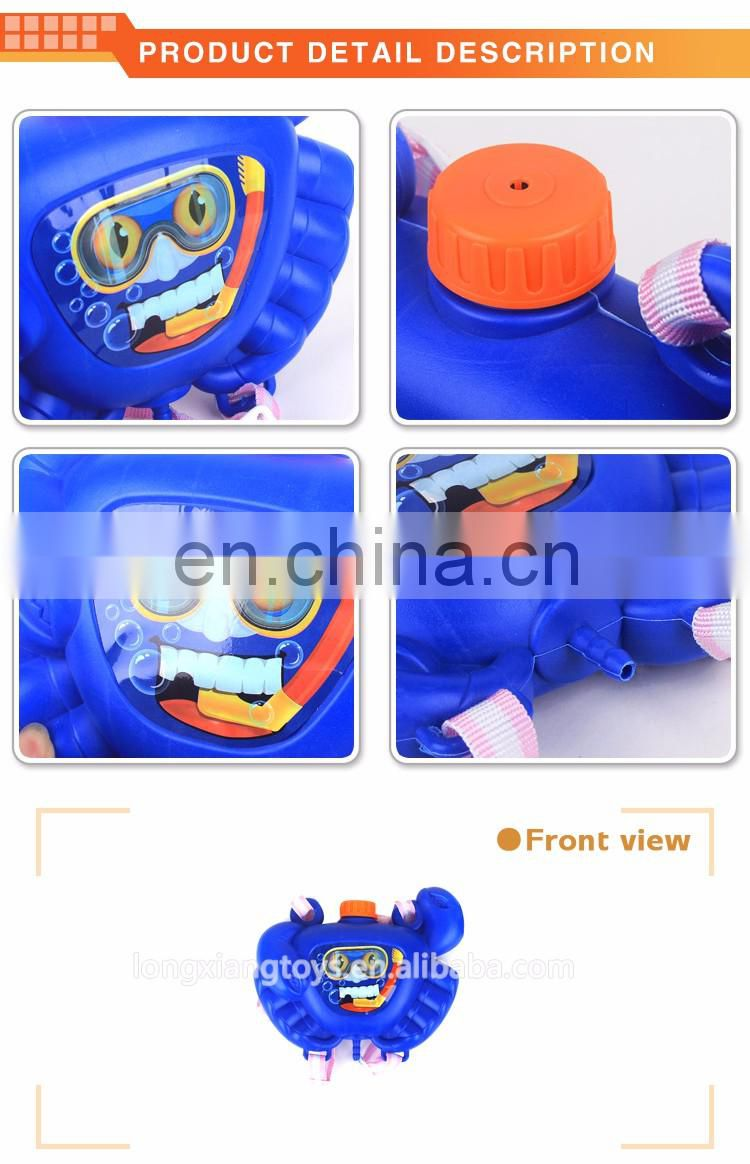 High quality plastic kid's toys animal tank backpack water gun for car wash with certificates