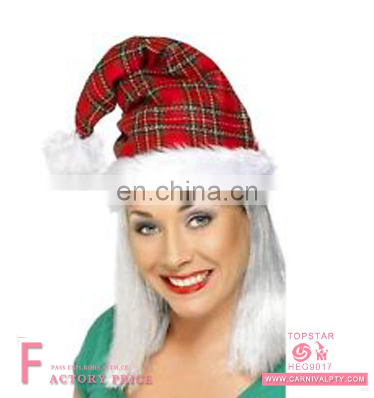 2017 New Design Promotional Fascinating Giant Red Spiral Spring Santa Hat For Christmas
