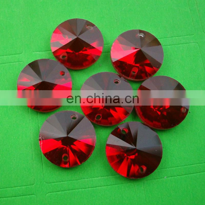 DZ-1041 siam glass beads (can make holes)