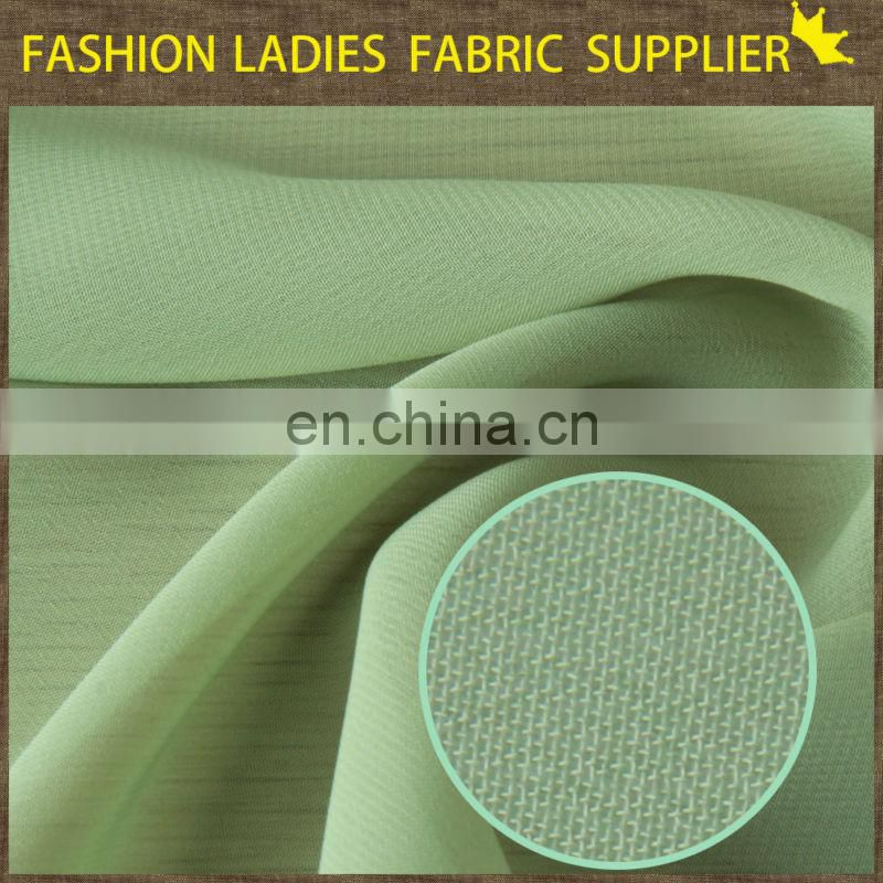 Shaoxing textile 100% poly chiffon with good permeability and drape elegant chiffon fabric