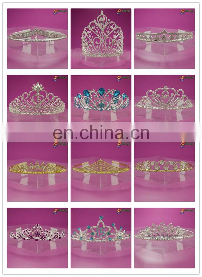 Bailange Headwear fancy rhinestone tall pageant crowns for sale