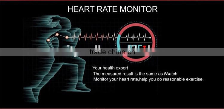 CE ROHS Heart rate monitor Smart watch for Europe market