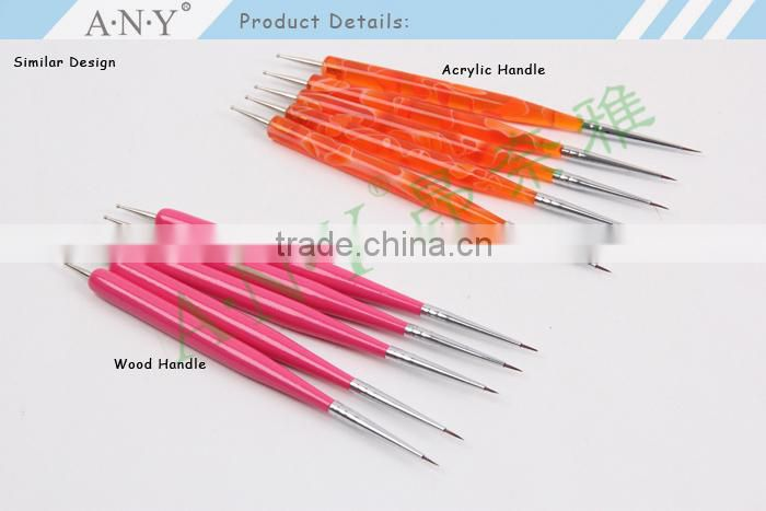 ANY French Nail Design Brush Acrylic Handle Beauty Nail Art Brushes