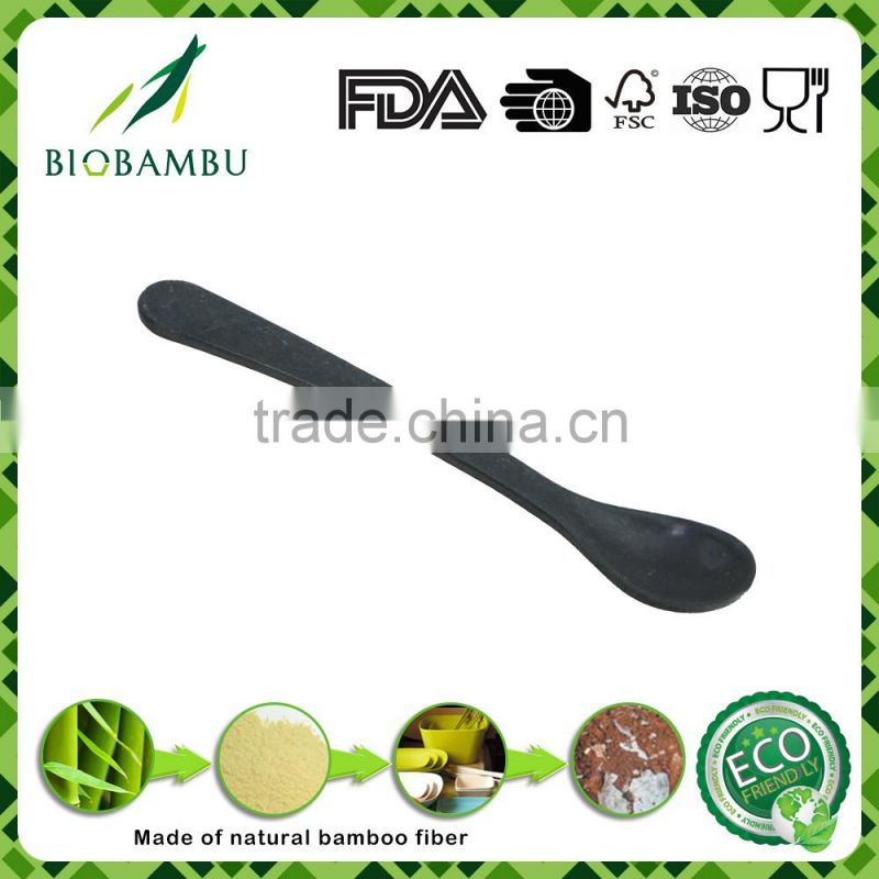 Portable no pollution light-coloured bamboo fiber baby spoon