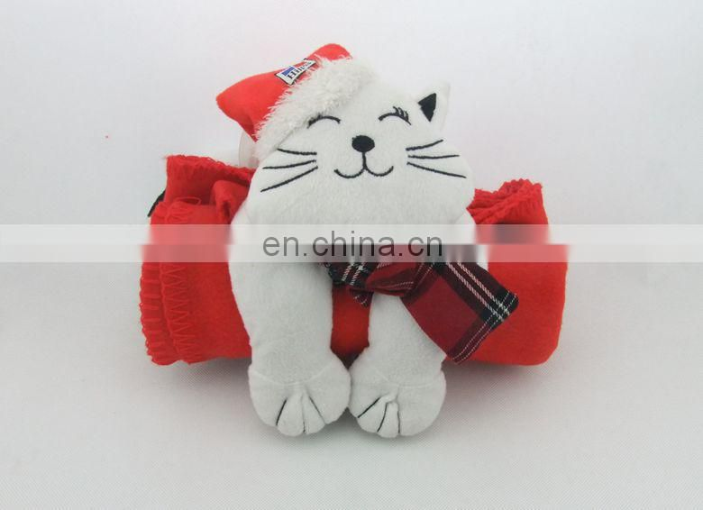 PLUSH TOY & POLAR FLEECE BLANKET SET
