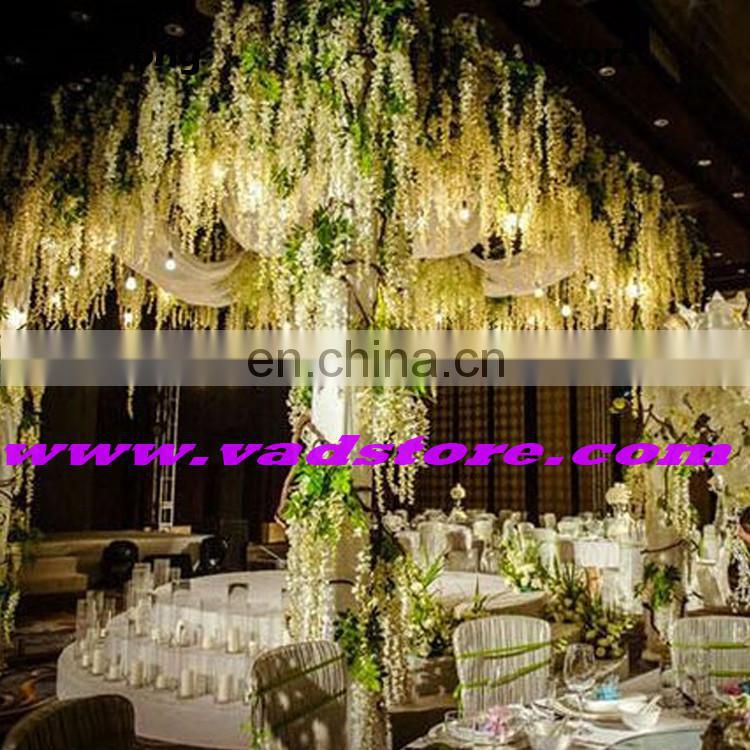 "Artificial Silk Wisteria Home Garden Hanging Flowers Plants 43"" Wisteria Wedding Vine Decor Wedding Flower Garland"