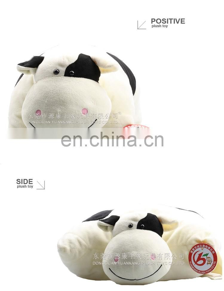 Cute super soft plush animal shape toy milk cow neck pillow