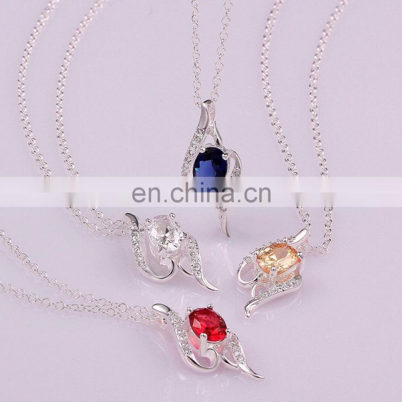 New arrival jewelry rhinestone silver necklace special designs for party