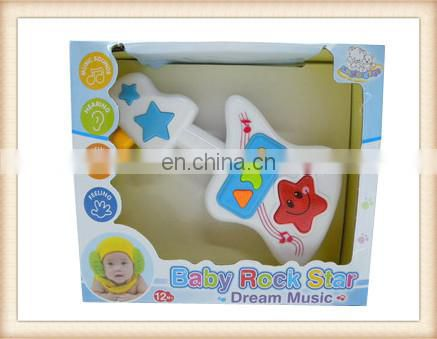 best gift baby musical toy cartoon plastic guitar toy, electric toy guitar
