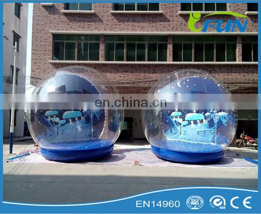 Cheap inflatable snow globe for Christmas/christmas photo snow globes/giant inflatable snow globe