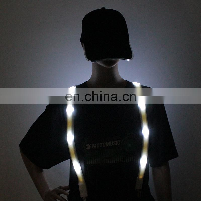 Hot sale fashion suspenders for girls fashion design suspenders Led Panel Light Suspender