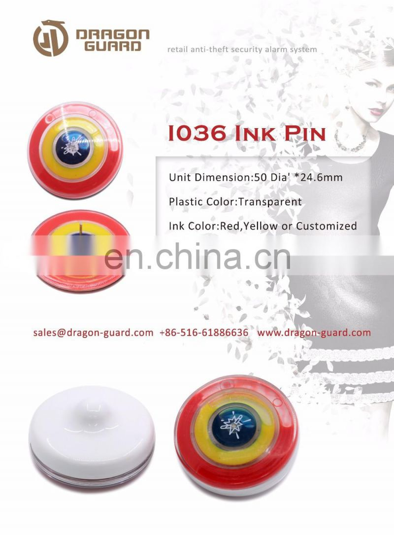 DRAGON GUARD EAS Ink Pin, anti-theft pin, Retail Shop Security ink pin