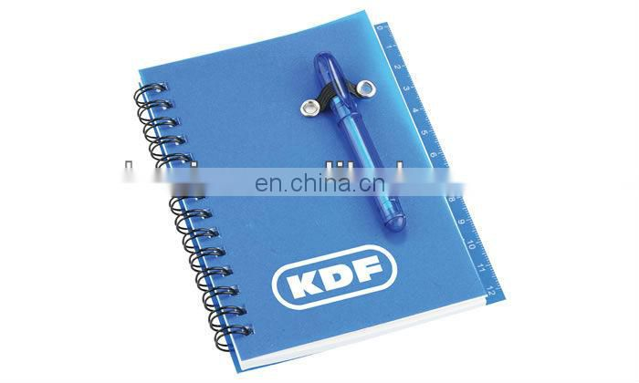 Promotional Gifts PP Notebook with Pen and Ruler