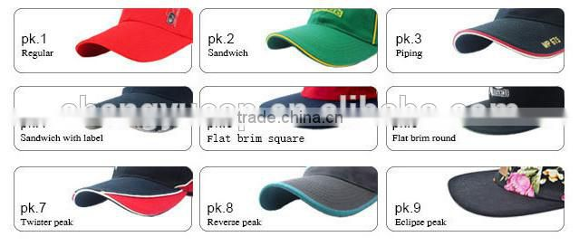 Cool sun hat/sun cap/panel 3d embroidery baseball cap