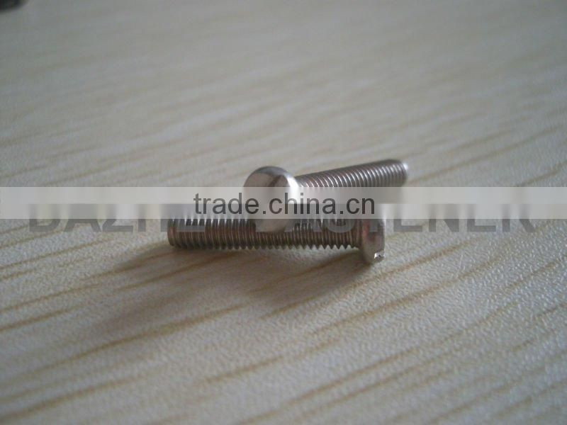Slotted cheese head machine screw DIN84