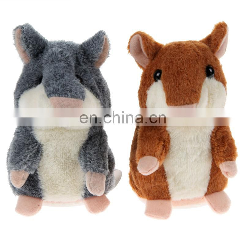 Customized stuffed talking hamster mouse plush animal toys that repeats for baby