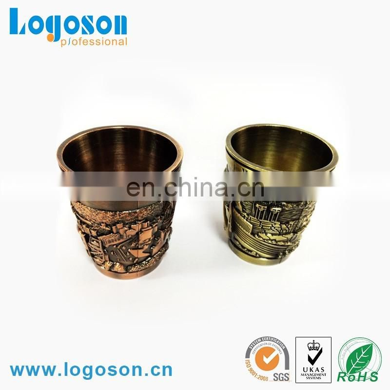 Wholesale custom tourist personalized metal souvenir shot glasses