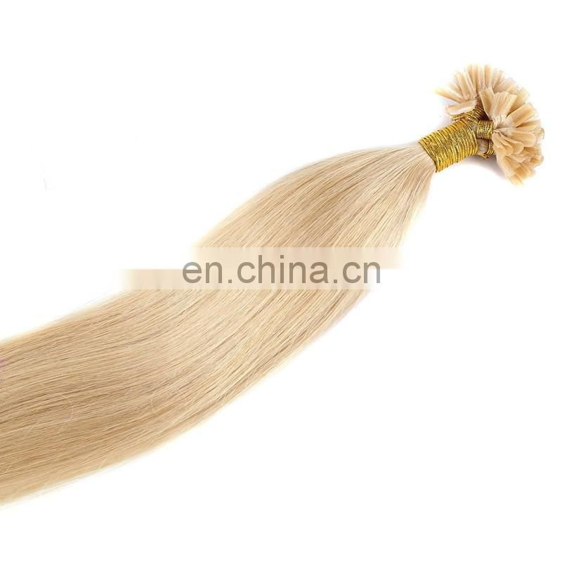 Top quality human hair extensions U/nail tip hair natural black/blonde/brown color rmey virgin brazilian hair extensions