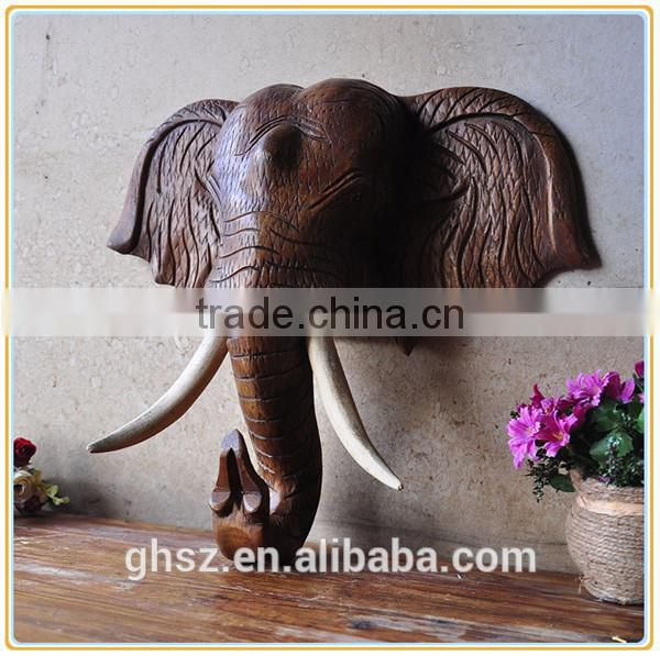 European style wall decor resin wall-mounted elephant head for sale