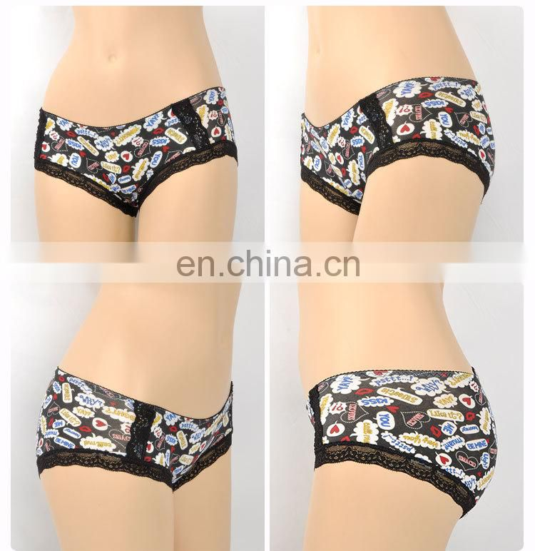 Floral Pattern Beautiful Sexual attraction sexy lace organic cotton underwear