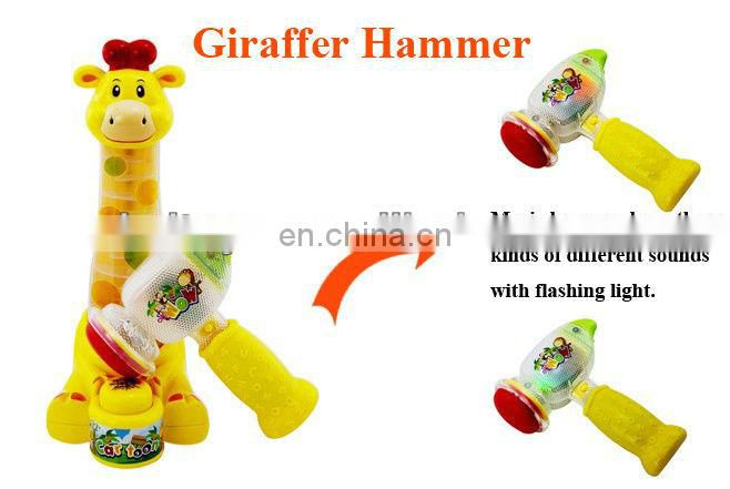 Happy hammer with music and light giraffe toy