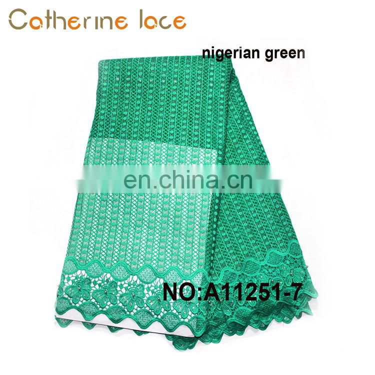 Catherine Promotional Fashion Dress Nigerian Green African French Mesh Lace