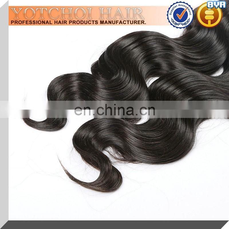 Nice Looking Black Indian Virgin Human Hair Body Wave Virgin Asian Remy Hair