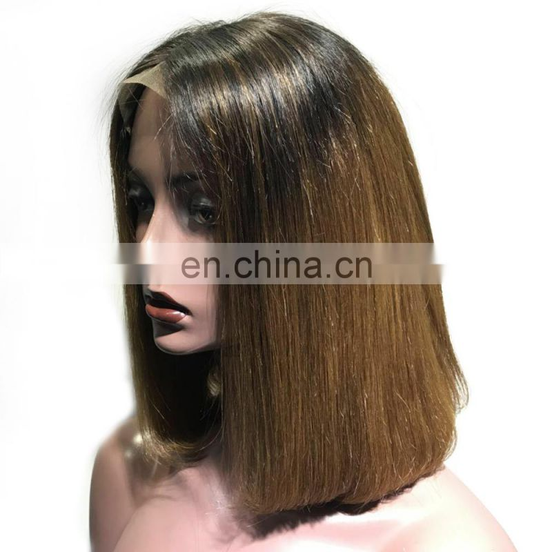 Hot Sale Lovely Bob Wig, Blonde Straight Unprocessed Brazilian Human Hair Wig