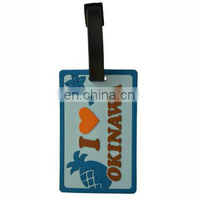 PVC Luggage Tag with print logo Travel Suitcase Baggage Tags