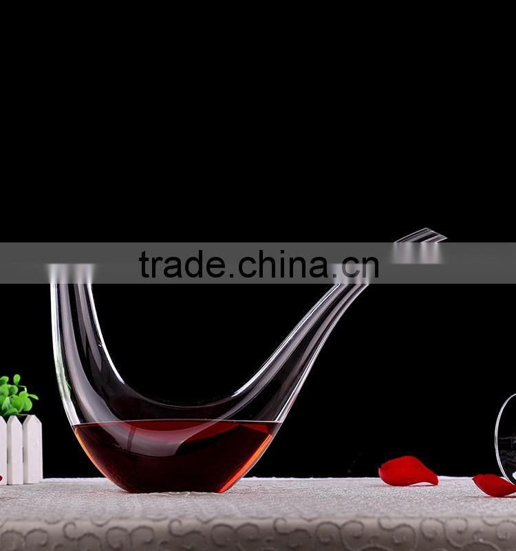 Wholesale Handmade Single Bulk Glass 1000 ml Whisky Wine Decanter lead free crystal decanter DJ9024