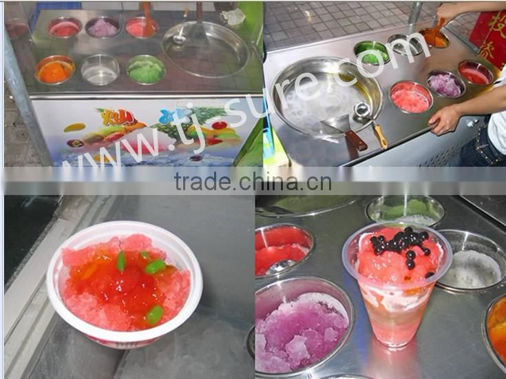 flat ice roll cream machine 2D10A