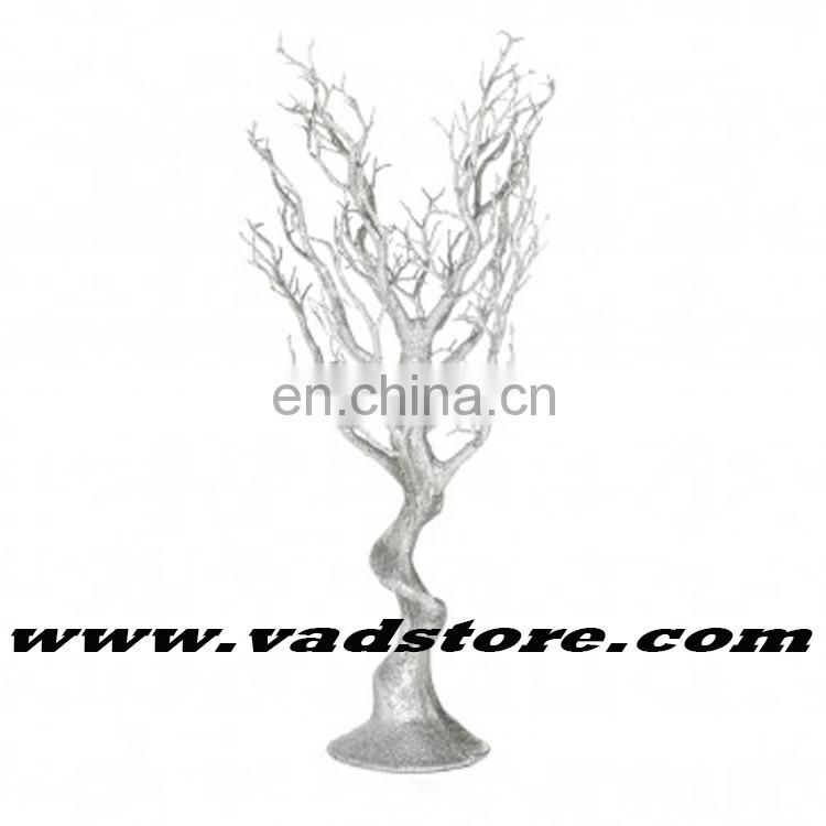 "26""artificial crystal strand manzanita tree wish tree silver glitter crystal tree with strong base"