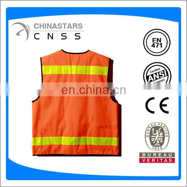 reflective safety vest multi pockets