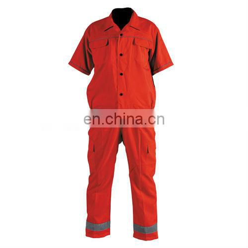 Economy 100%Cotton high visibility Reflective Coveralls Conforms to EN471