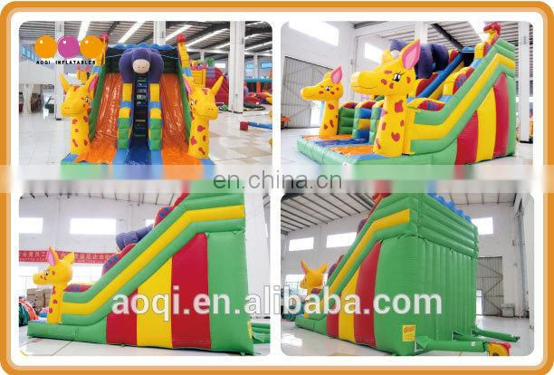 Inflatable game manufacturers big discount best seller large Inflatable slide giraffe slide inflatables for sale