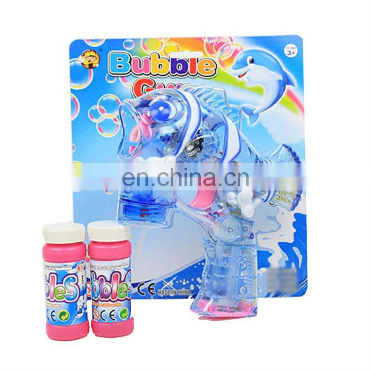Summer toy fish bubble gun toy