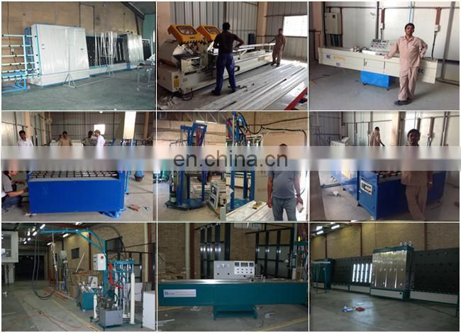 Triple and double glass fabricating insulating glass machine
