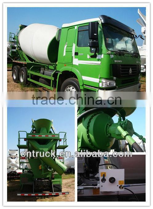 howo9 cubic meters euro 2 concrete mixer truck