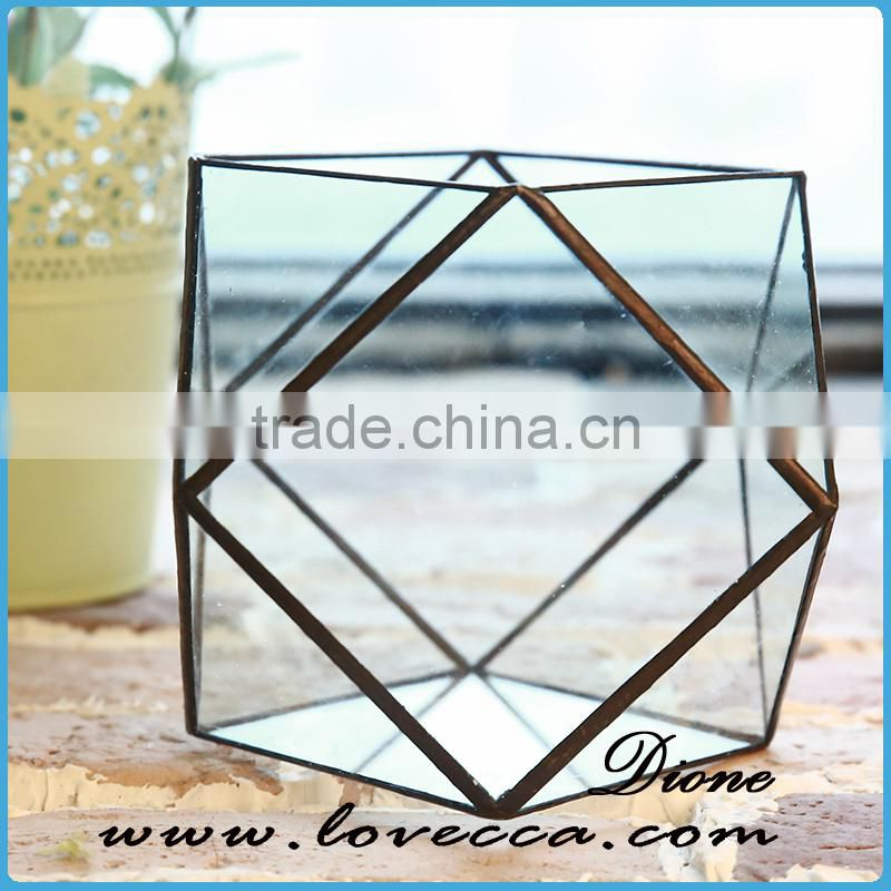 Fashion high quality indoor home geometric glass display cases