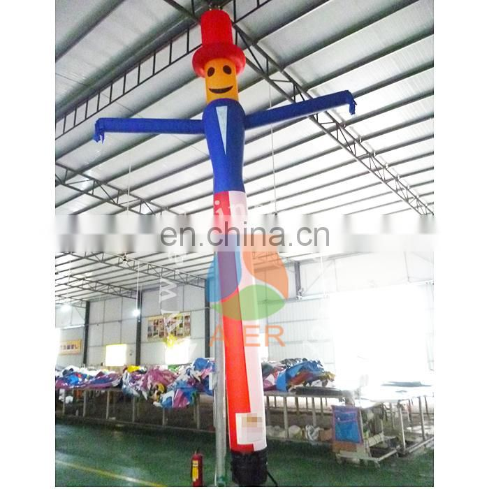 Cheap inflatable advertising dancer / beautiful air inflatable double legs dancer