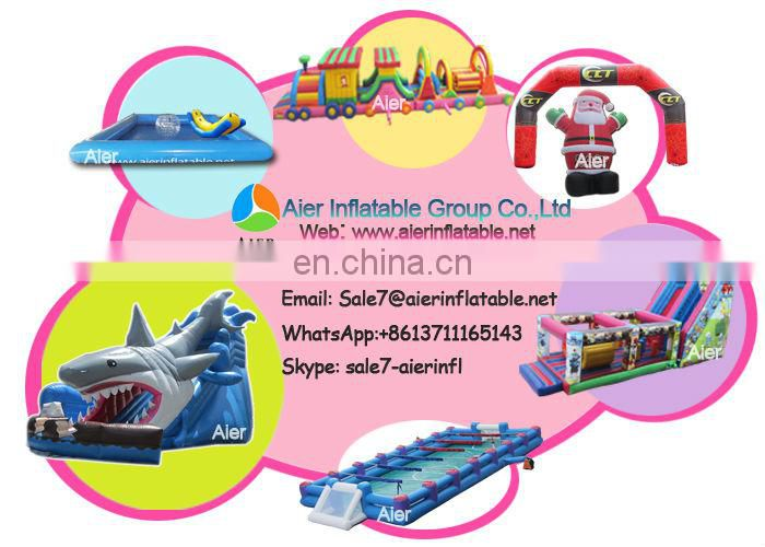 Little inflatable train bouncy castle