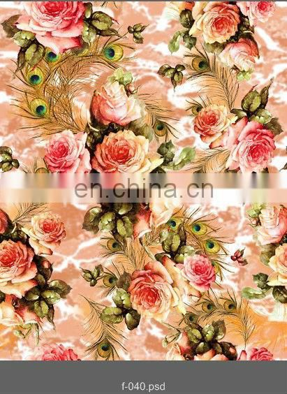organic digital printed cotton fabric for hats,dress,shirt