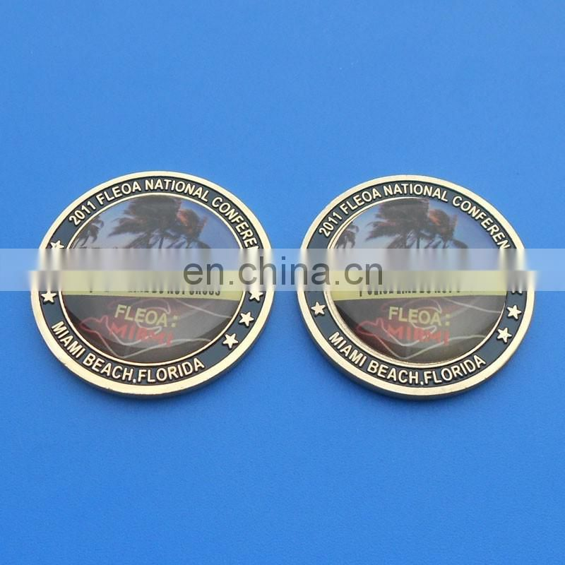 custom blank plated color metal challenge coin